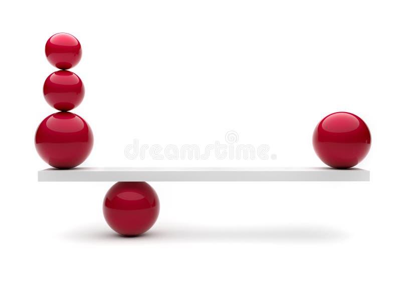 Esferas en equilibrio ilustración del vector