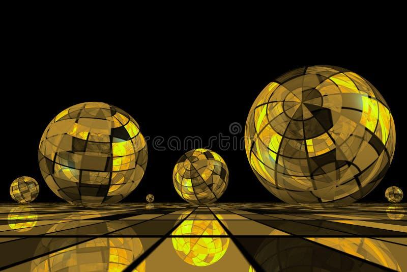 Esferas futuristas. ilustração stock