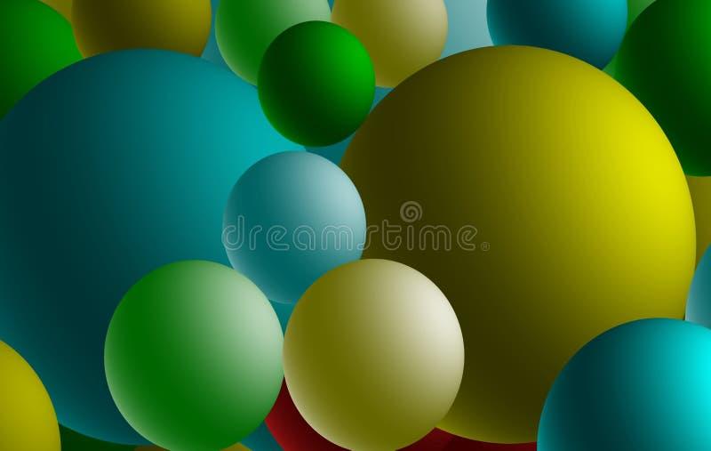 Esferas llanas, con pantalla grande ilustración del vector