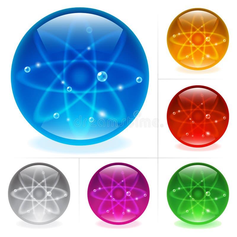 Download Esferas lustrosas ilustração do vetor. Ilustração de futuro - 16864580