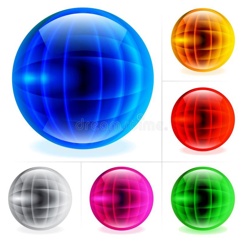 Esferas lustrosas ilustração stock