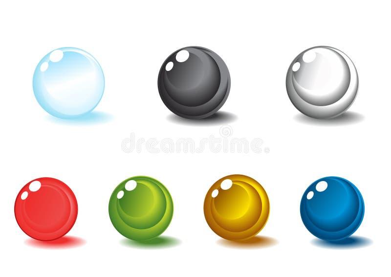 Download Esferas Lustrosas Coloridas Ilustração Stock - Ilustração de objetos, grupo: 12801807