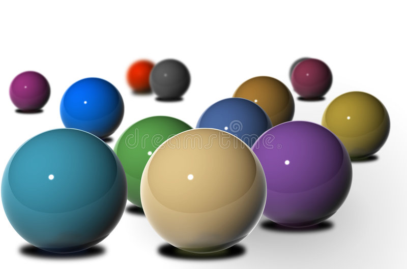 Esferas lustrosas múltiplas ilustração do vetor