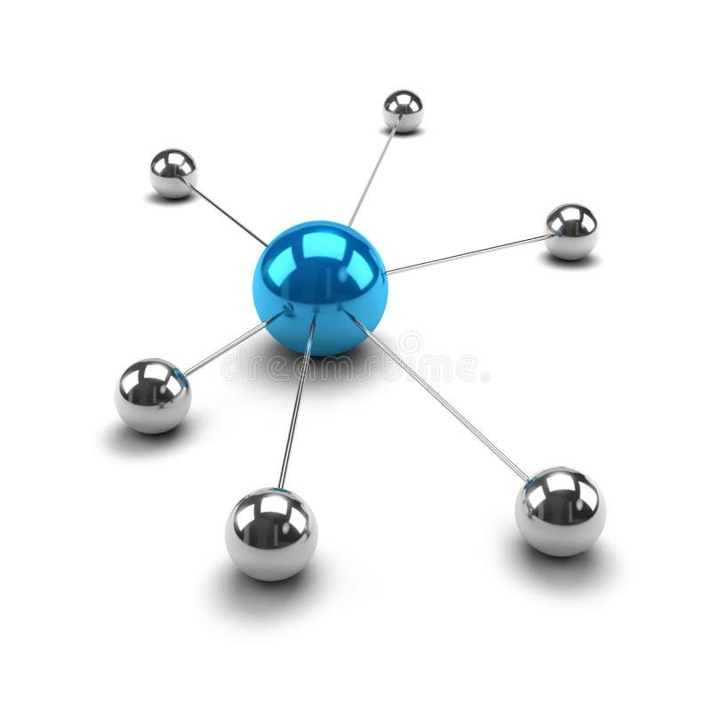 Esferas metálicas ligadas juntas ilustración del vector