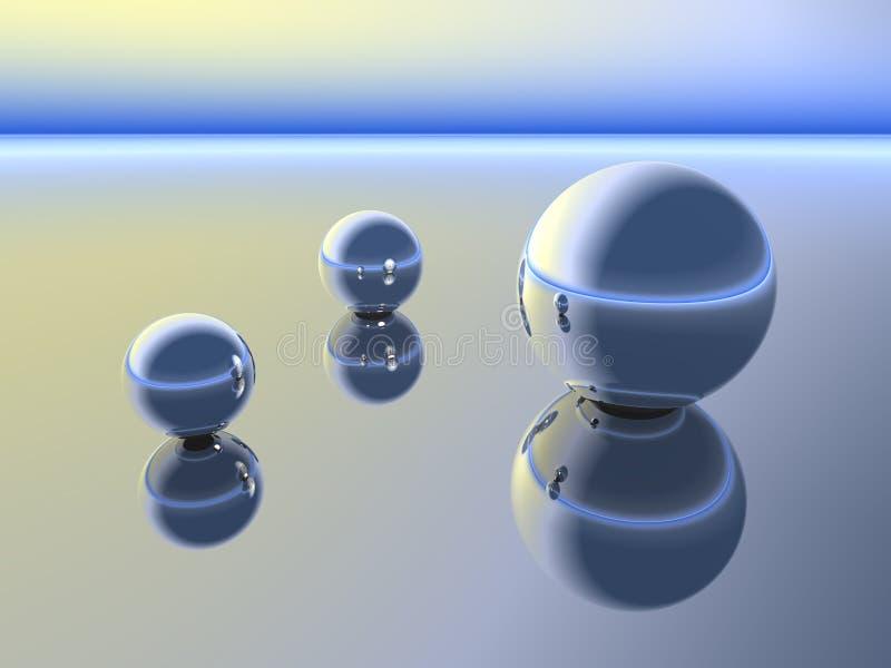Esferas na conversação ilustração stock
