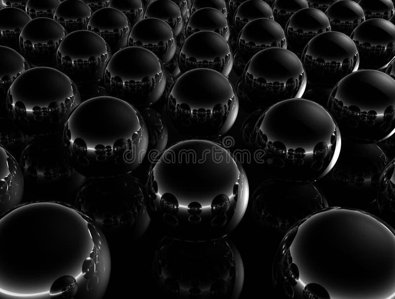 Esferas Negras Mínimas Imagen de archivo