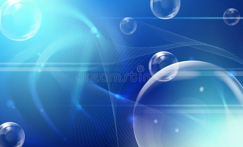 Esferas no fundo azul. ilustração royalty free