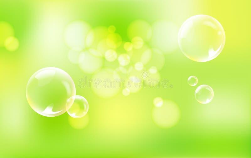 Esferas no fundo verde. imagens de stock royalty free