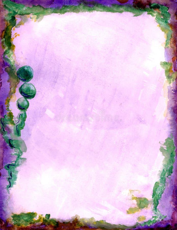 Esferas púrpuras, verdes ilustración del vector