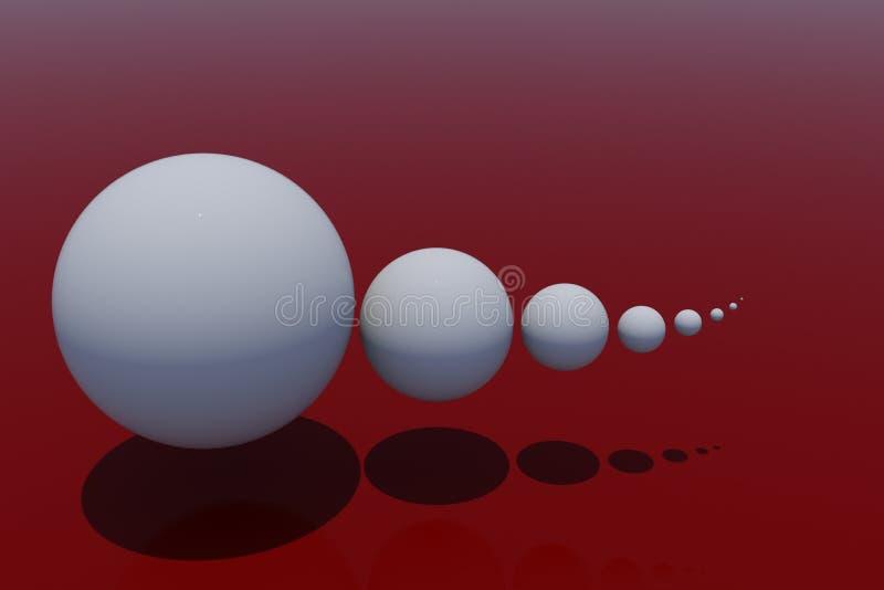 Esferas plásticas brancas - modelo 3d ilustração stock