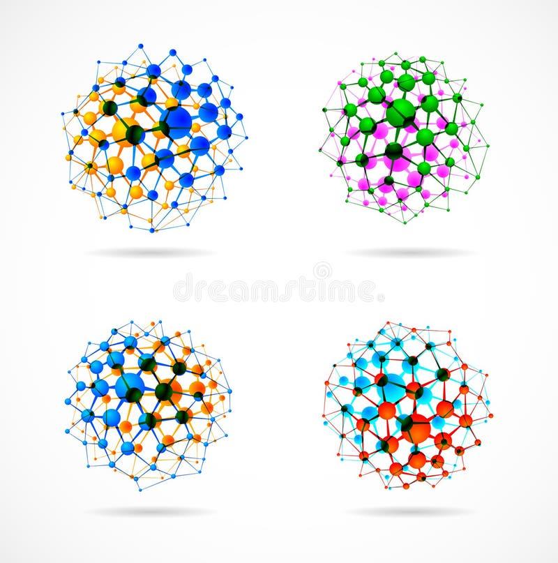 Esferas químicas stock de ilustración