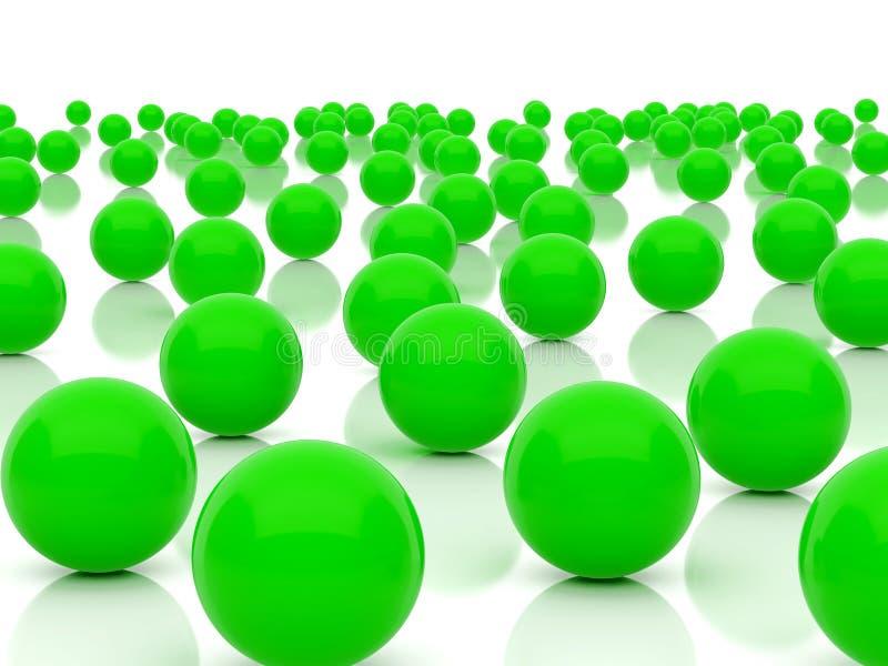 Esferas verdes ilustración del vector