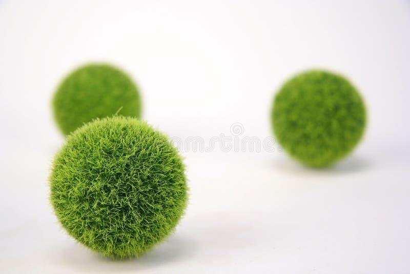 Esferas verdes distorcido imagens de stock royalty free