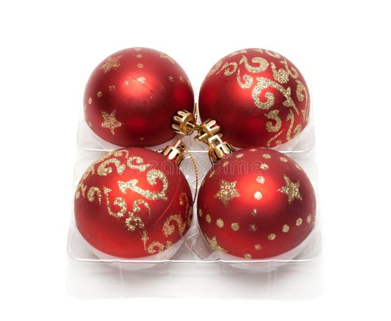 Esferas vermelhas dos cristmas imagem de stock