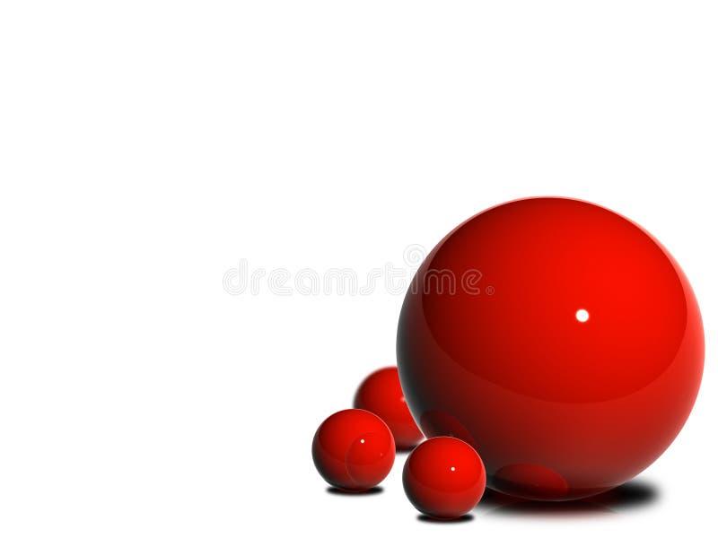 Esferas vermelhas lustrosas ilustração do vetor