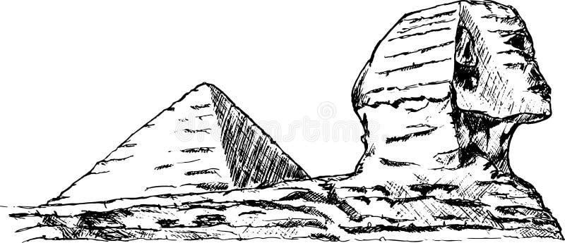 Esfinge stock de ilustración