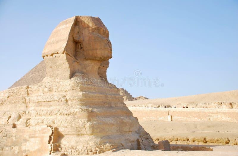 Esfinge antigua de Giza cerca de El Cairo Egipto imagenes de archivo