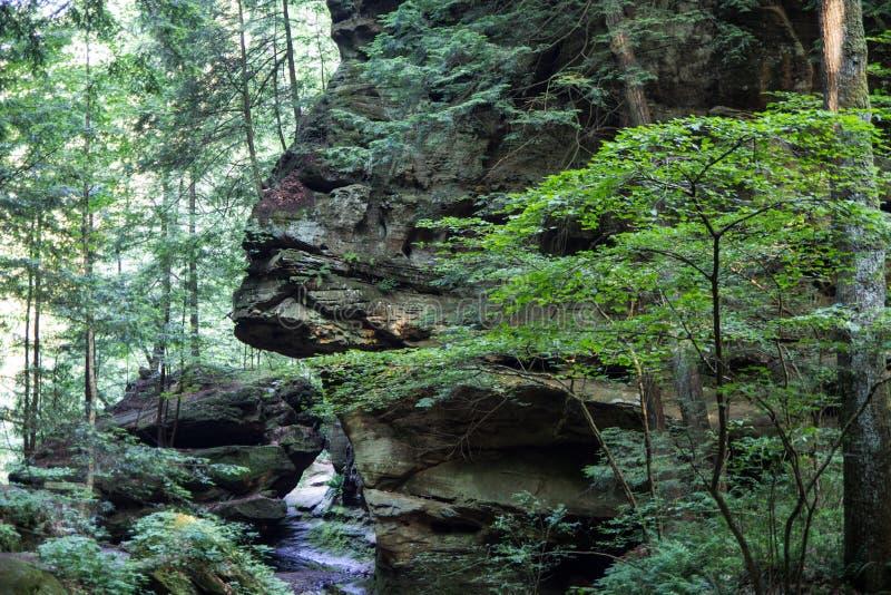 Esfinge de Ohio dos montes de Hocking foto de stock