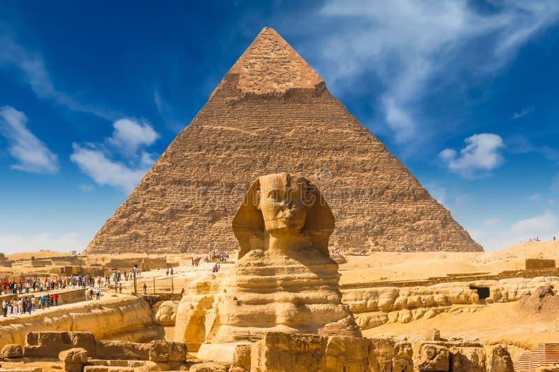 Esfinge egipcia cairo giza Egipto Fondo del recorrido Architec imagen de archivo libre de regalías