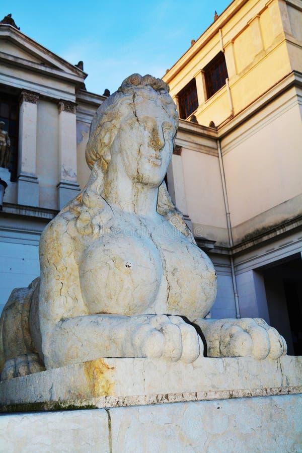 Esfinge en Conegliano Véneto, Treviso, Italia imagen de archivo