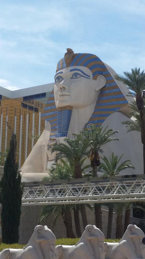 Esfinge en el Luxor Las Vegas imagen de archivo