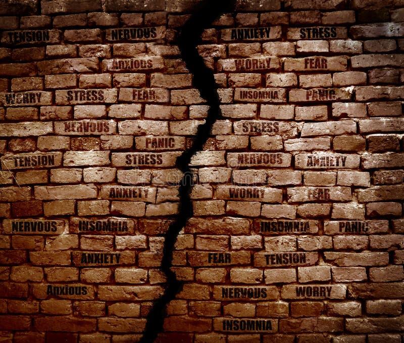 Esforço da parede de tijolo imagem de stock