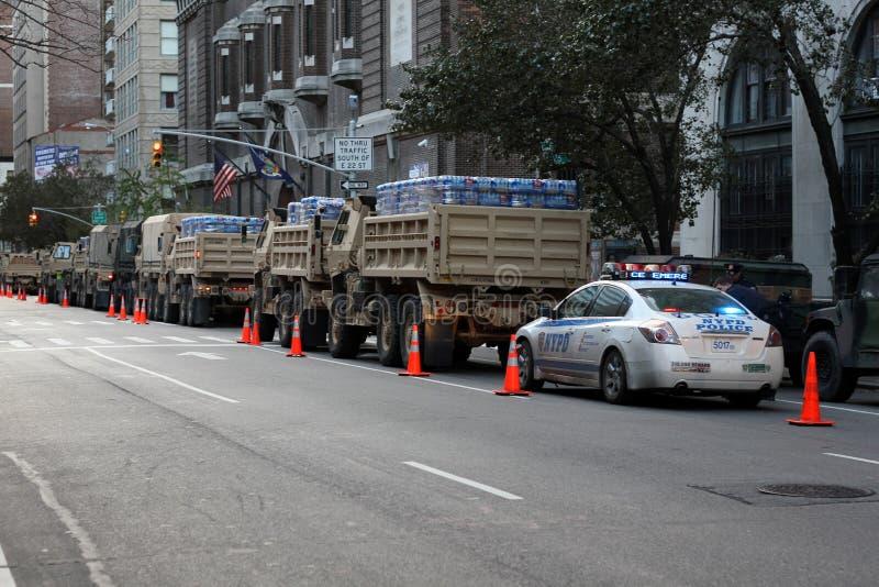 Esforço de relevo de NYC após Superstorm Sandy imagem de stock