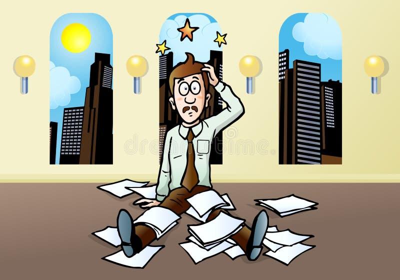 Esforço do homem de negócios ilustração do vetor