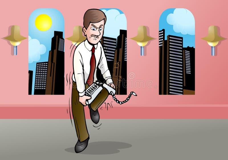 Esforço do homem de negócios ilustração royalty free
