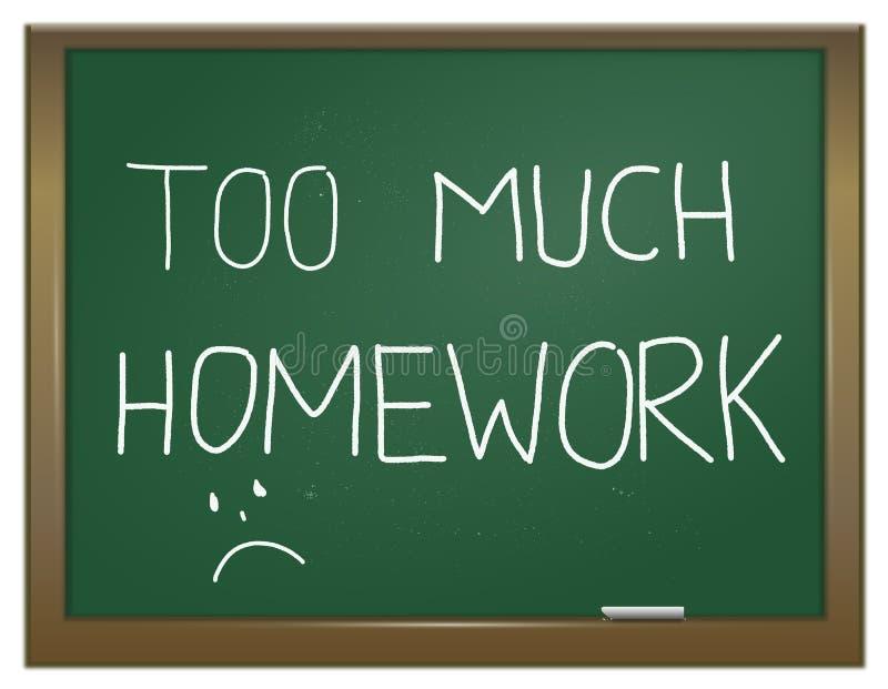 Esforço dos trabalhos de casa. ilustração do vetor