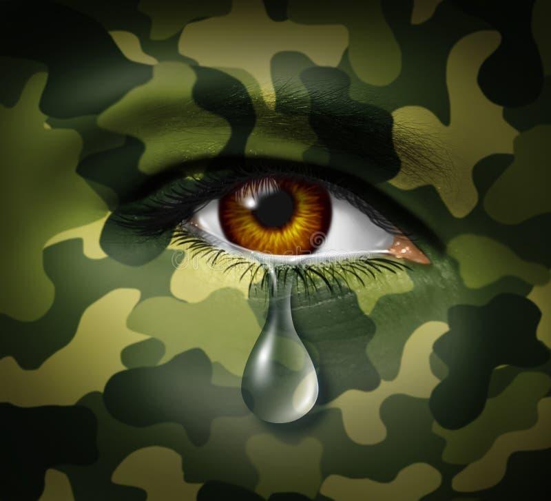 Esforço emocional da guerra ilustração royalty free