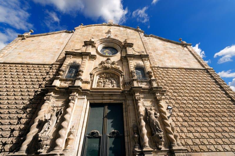 Esglesia de Betlem - Barcelona España foto de archivo