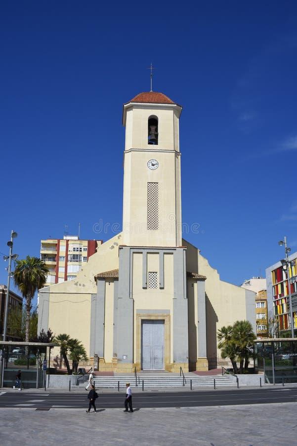 Esglesia de Sant Jaume, chiesa di St James, del Segura, Spagna di Guardamar Costa Blanca fotografia stock libera da diritti