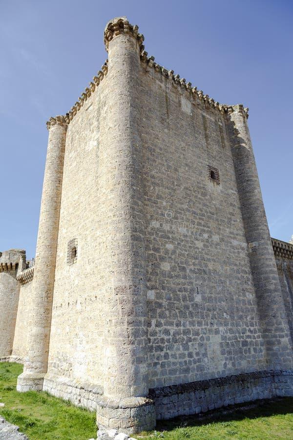 Esgueva Villafuerte城堡  库存图片