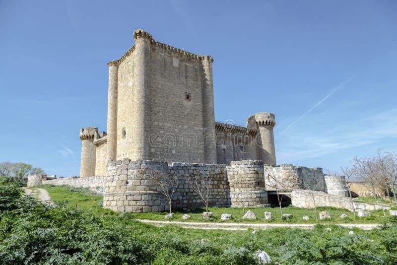 Esgueva Villafuerte城堡  库存照片