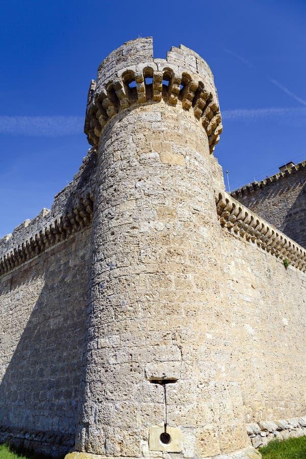 Esgueva Villafuerte城堡 免版税库存图片