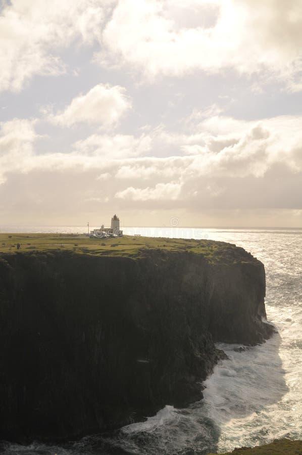 Eshaness lighthouse stock image