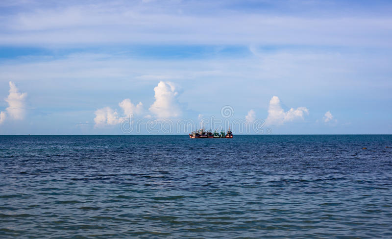 Eskadra statki przy morzem fotografia stock