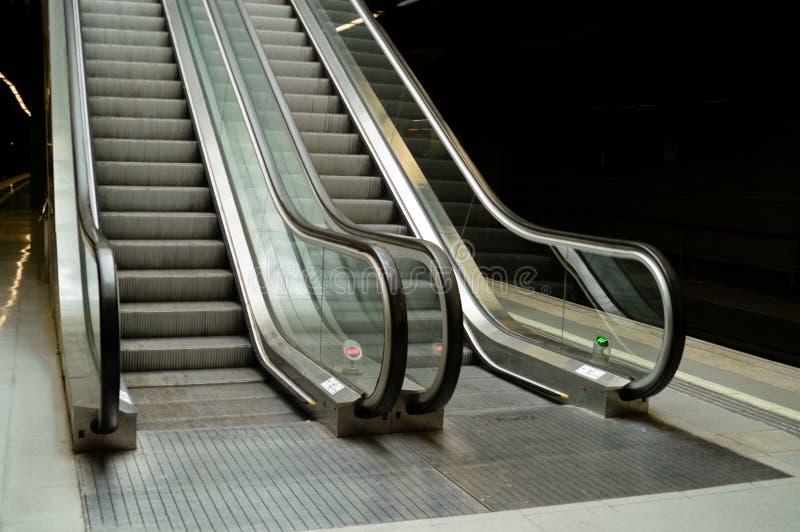 eskalator obrazy royalty free