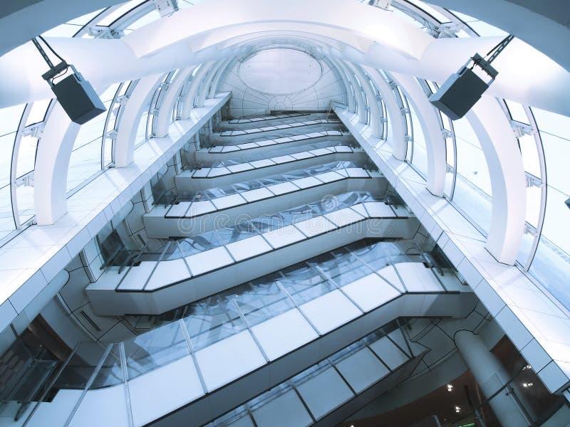 eskalator przejrzysty zdjęcie royalty free