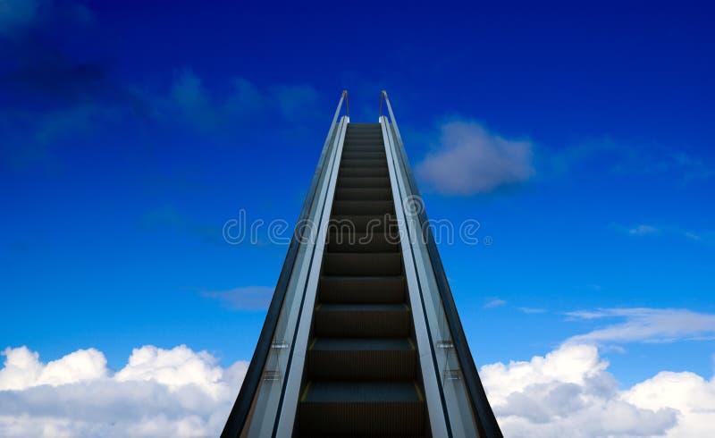 eskalator przystanie fotografia stock