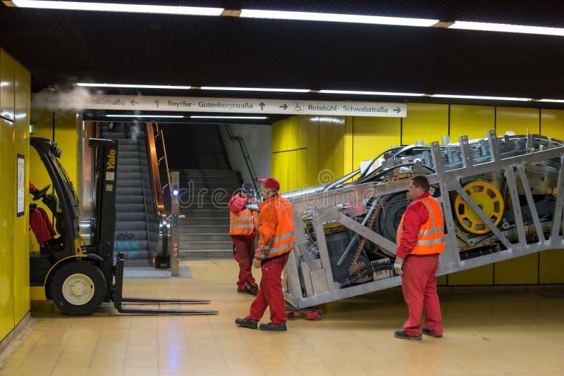 Eskalator roboty budowlane obraz stock