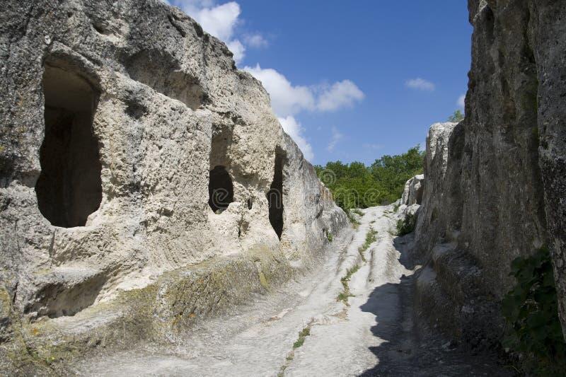 Download Eski-Kermen cave town stock image. Image of natural, ruined - 15848021