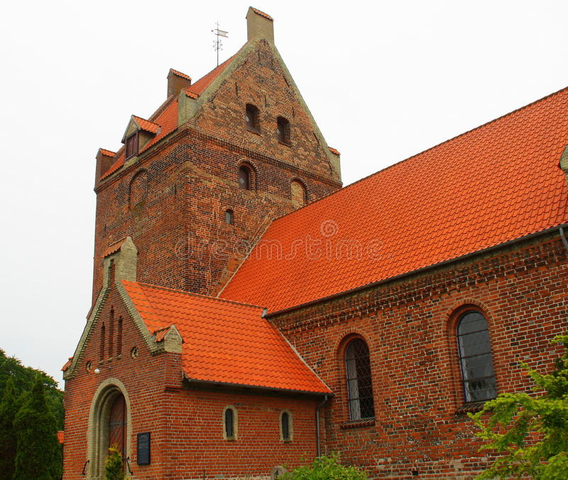 Eskilstrup Kirke. From 1130 in Eskilstrup on the island Falster. Denmark royalty free stock photo