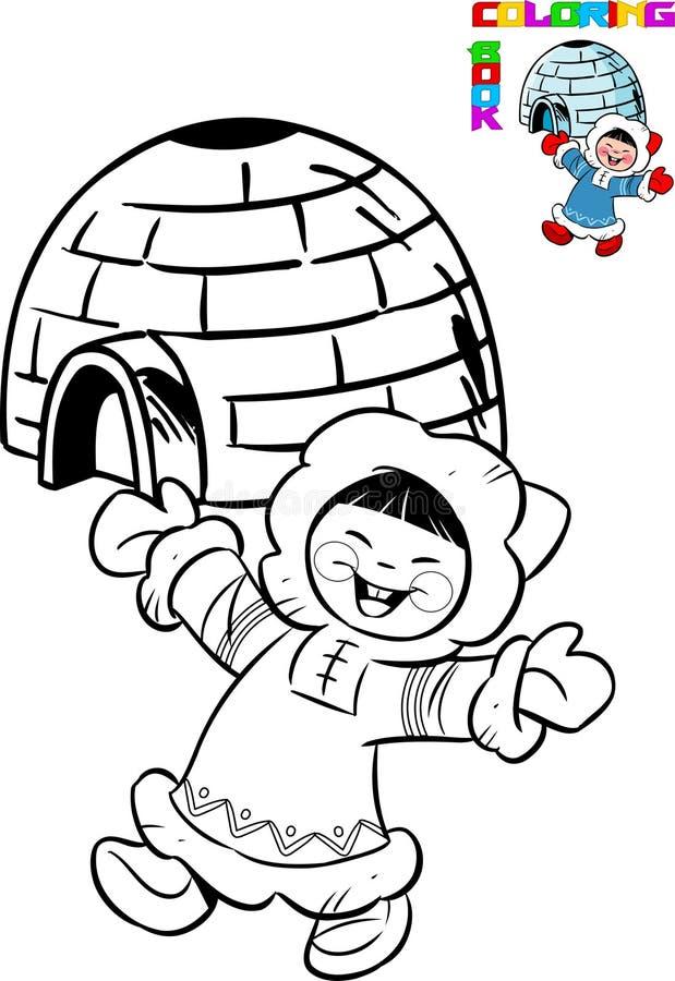 eskimo royaltyfri illustrationer