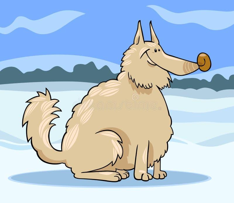 Eskimo Dog Cartoon Illustration Stock Photography
