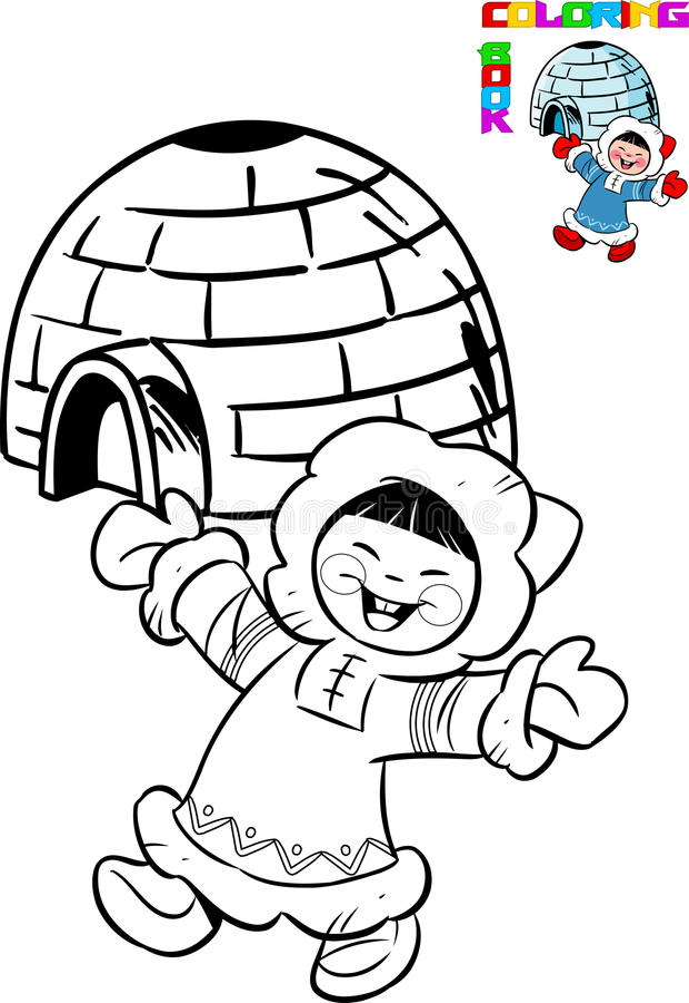 eskimo stock vector illustration of black indigenous