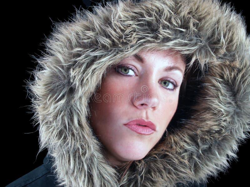 Eskimo meisje royalty-vrije stock foto's