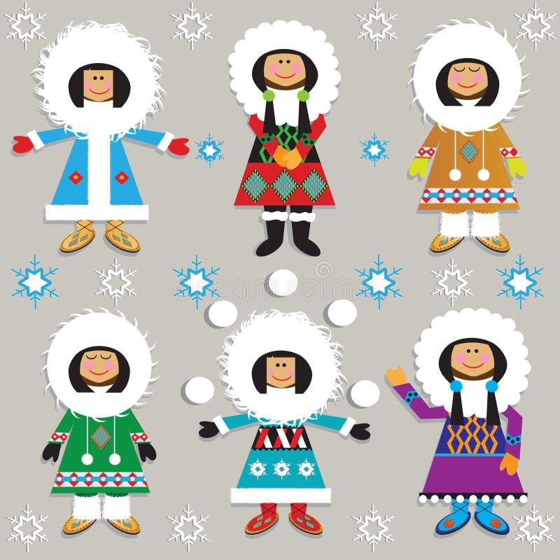Eskimo's stock illustratie
