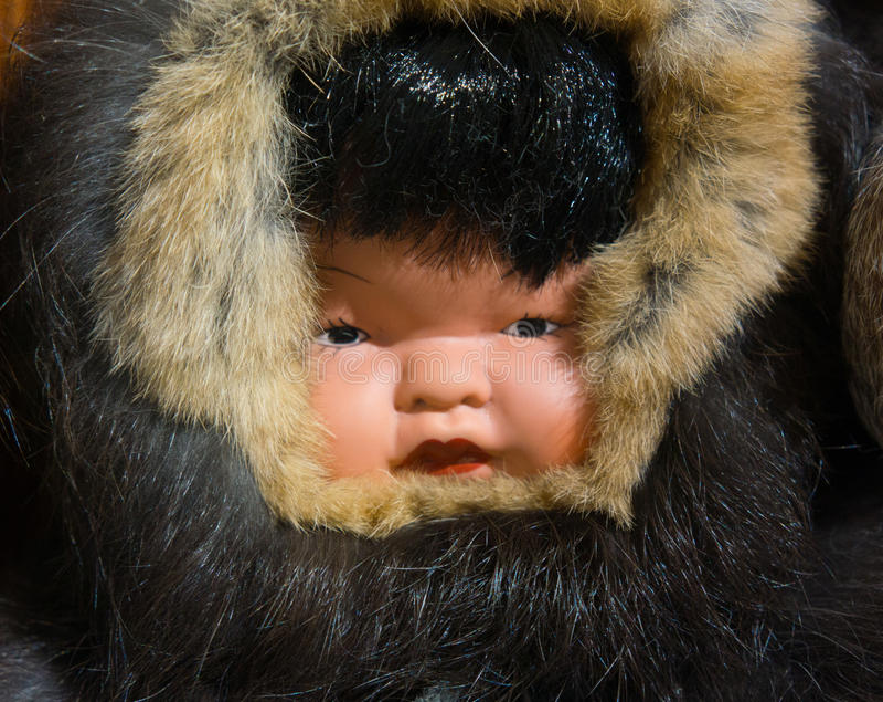 Eskimopuppe lizenzfreie stockbilder